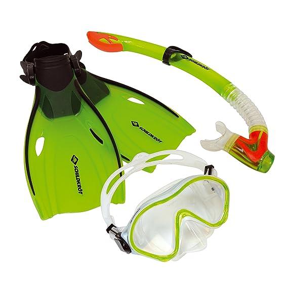 Schildkröt Kinder-Schnorchelset Bermuda 3-teilig, Brille, Schnorchel, verstellbare Flossen in verschiedenen Größen 27-32 / 33