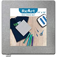 """ReArt 14"""" x 14"""" Heat Press Mat for Cricut Easypress Both Sides Applicable - Mat for Heat Press Machines and HTV and Iron…"""