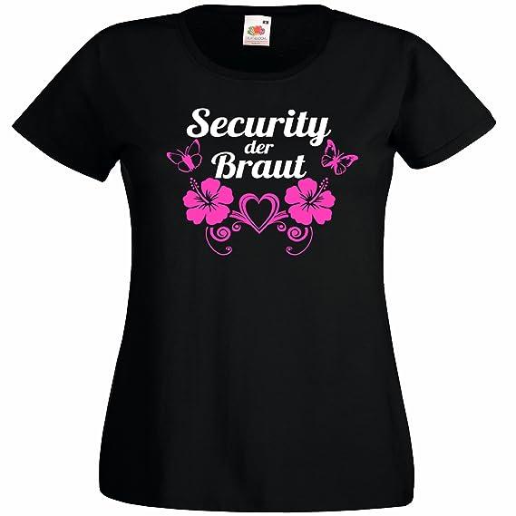 Junggesellinnenabschied T Shirt Junggesellenabschied Security Braut
