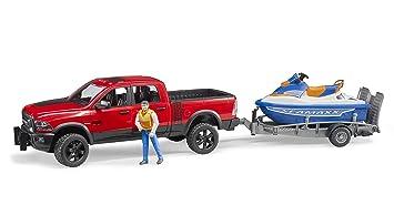 Spielzeugautos Bruder 02503 Ram 2500 Power Wagon mit Anhänger Spielzeug Auto NEU