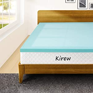 Memory Foam 3 Inch King Size Mattress Topper Bed Foam Topper Gel Cooling Infused King Size Foam Mattress Pad for King Bed