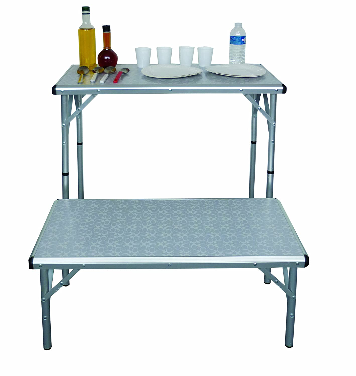 Coleman 6-in-1 Camping Table, Silver: Amazon.co.uk: Sports & Outdoors