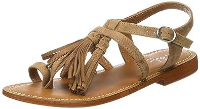 L'atelier Tropezien entre-doigts Beige - Chaussures Sandale Femme