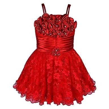 17767862db Wish Karo Baby Girls Frock Dress (red Pink -net)  Amazon.in ...