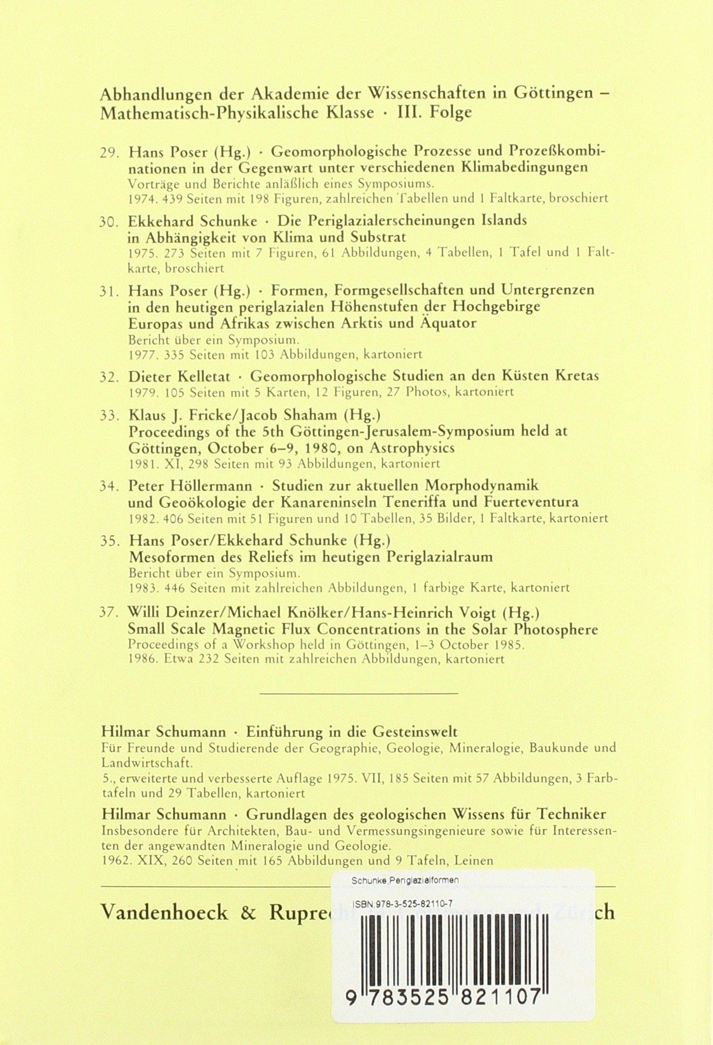 Periglazialformen und Morphodynamik im südlichen Jameson- Land, Ost ...