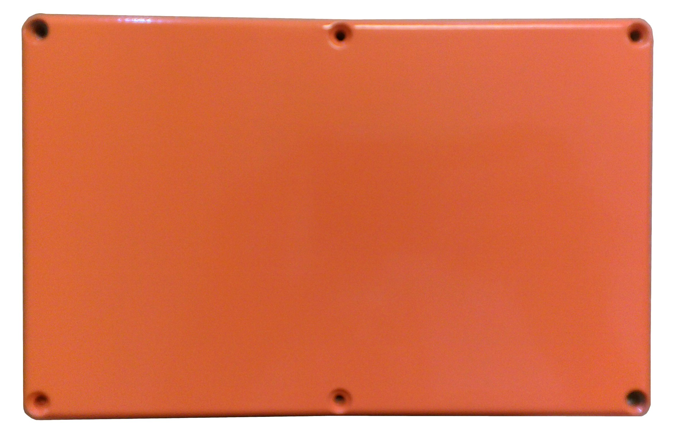 Hammond 1590EOR Orange Diecast Aluminum Enclosure -- Inches (7.38'' x 4.70'' x 3.07'') mm (188mm x 120mm x 78mm)
