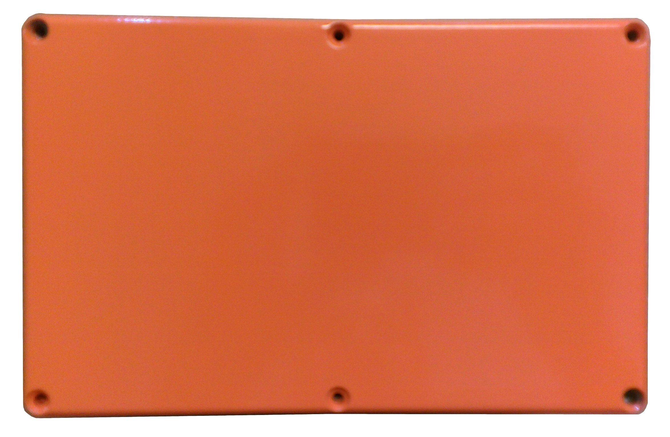 Hammond 1590EOR Orange Diecast Aluminum Enclosure -- Inches (7.38'' x 4.70'' x 3.07'') mm (188mm x 120mm x 78mm)