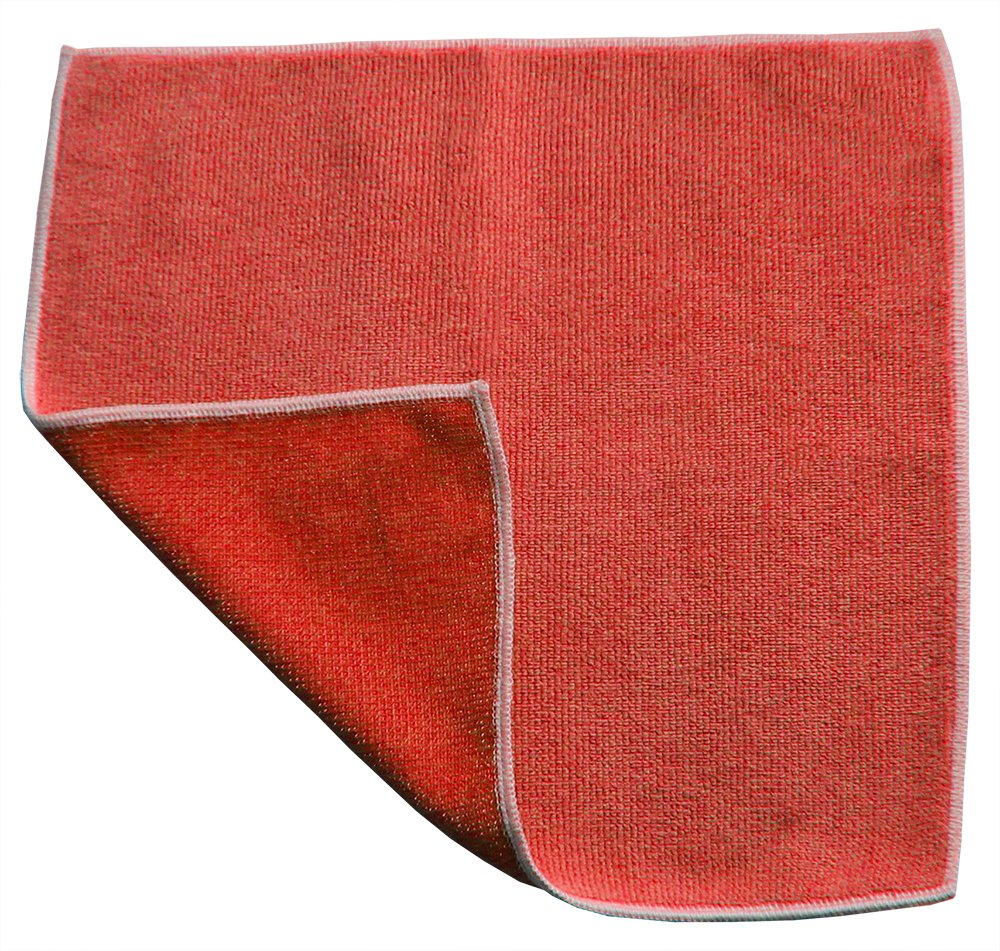 Highest Quality - Dual Sided Microfiber Combination Cloth 12 x 12 (120, Red)
