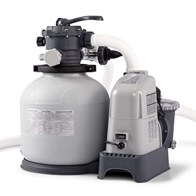 Intex Krystal Clear 1500 GPH Sand Filter Pump & Saltwater System