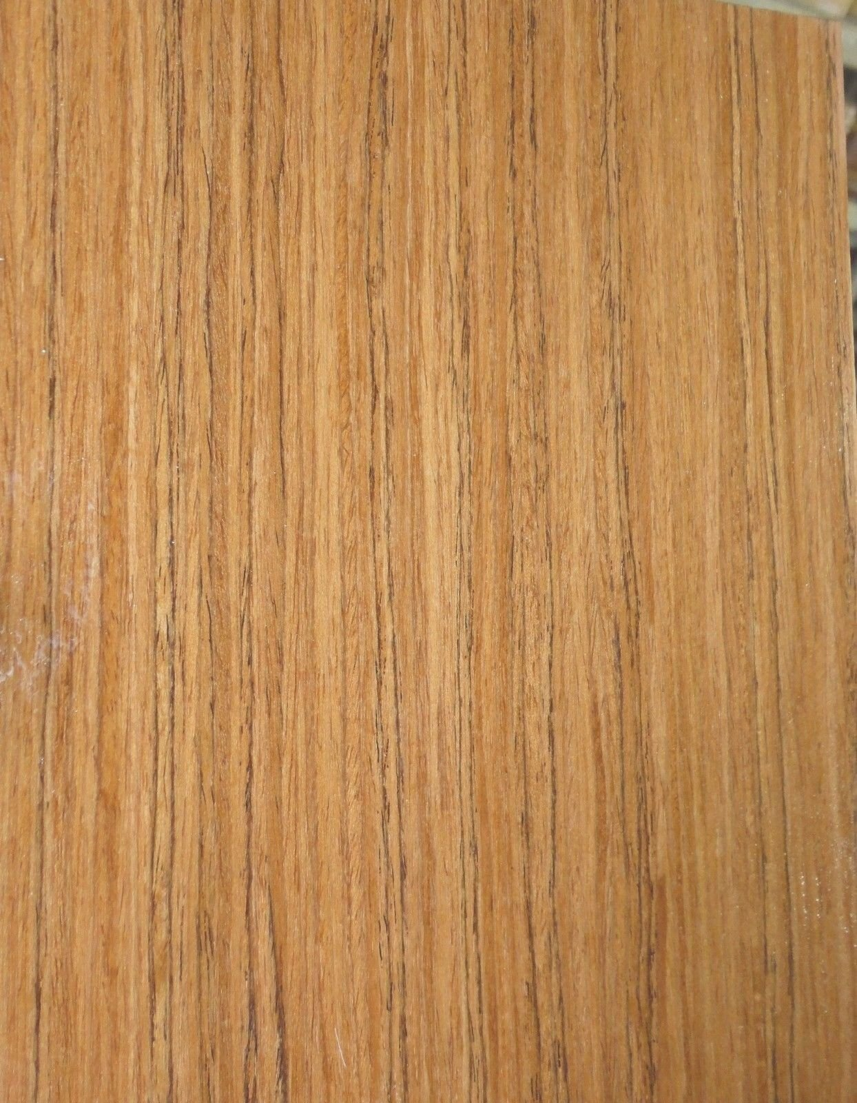 Teak African composite wood veneer 48'' x 96'' on paper backer 1/40th'' thick (EFW)