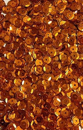/Ø 6mm Riesige Auswahl an Farben 1400 Pailletten Orange