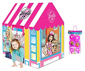 Buy Barbie Chef Kid S Play Tent House With Barbie Kitchen Set