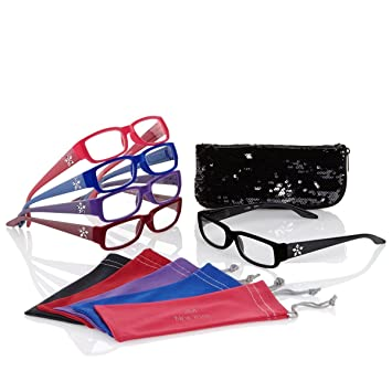 a0a23c7f993 Amazon.com  Joy Mangano Readers Reading Glasses Velvety Chic 11 ...