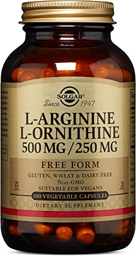 Solgar L-Arginine L-Ornithine 500 250 mg, 100 Vegetable Capsules