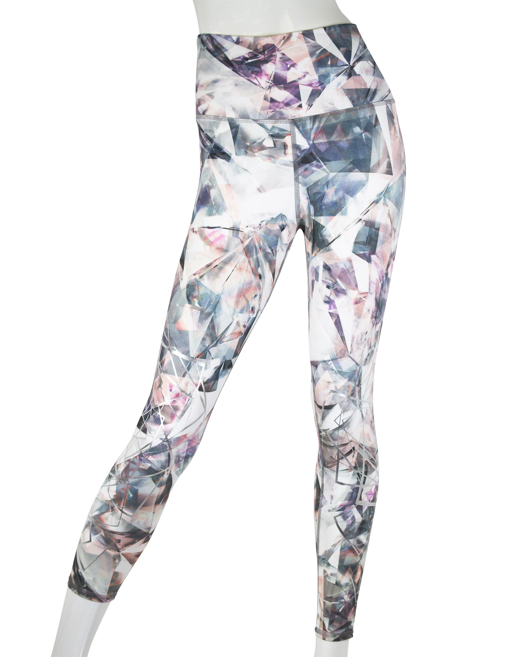 EVCR Womens Chard Glass High-Waisted Legging