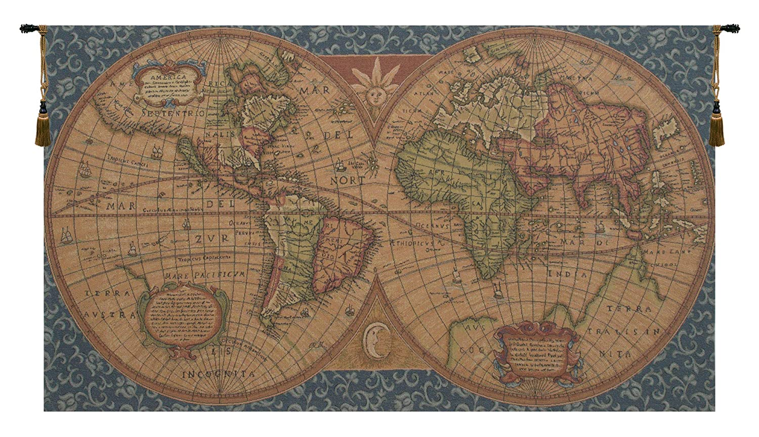 Amazon Com Charlotte Home Furnishings Inc Old Map Of The World