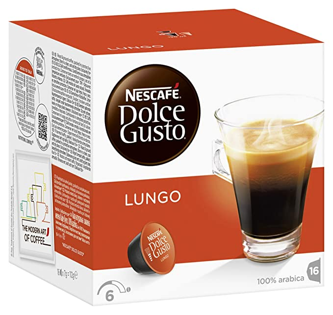 Nescaf Dolce Gusto - Lungo - 3 Paquetes de 16 Cpsulas - Total: 48 ...
