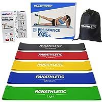 Weerstandsbanden/Fitnessbanden, Set van 5, met Handleiding en eBook in het Nederlands – 5x gymnastiekband, body resistance band, powerband, mini fitnesselastiek