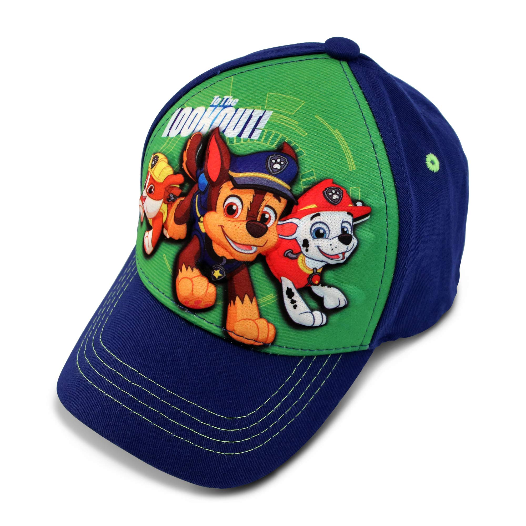 Nickelodeon Boys' Toddler Paw Patrol Character 3D Pop Baseball Cap, Blue/Green, Age 2-4 by Nickelodeon