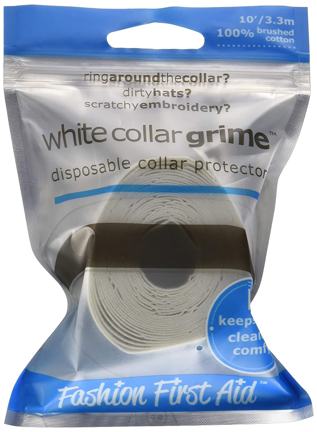White Collar Grime: Disposable Collar Protector, White, 10 Ft