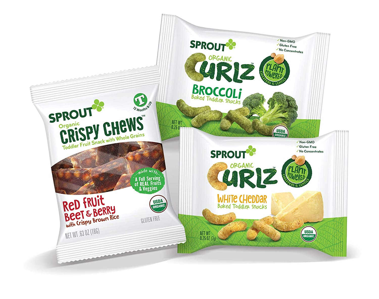Sprout Organic Toddler Variety Chews and Curlz Single Serve Packs, 24 Count Sprout Foods Inc.