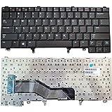 SUNMALL US Layout Replacement Keyboard Without Backlit Compatible with Dell Latitude E5420 E5430 E6220 E6320 E6330 E6420 E643