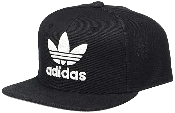 d59ccd52 adidas Boys / Youth Originals Trefoil Chain Snapback Cap, Black/White, One  Size