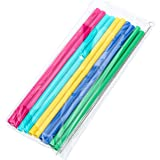 the flow 10 Replacement Reusable Straws with Straw Brush for Wide Mouth Bottle Straw Lid, 100% Hydro Flask Compatible, BPA Free