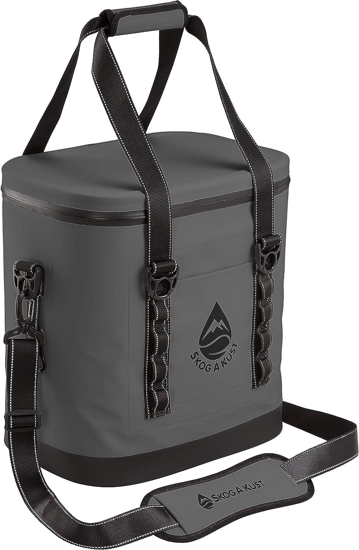 Skog Å Kust ChillSåk Airtight & Leakproof Soft Cooler Bags   Flip 24 Can Size Dark Grey