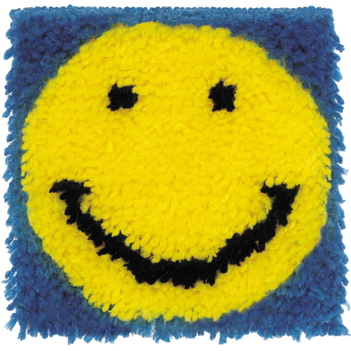 Spinrite Wonderart Latch Hook Kit, 8 by 8-Inch, Smiling Face 426179C