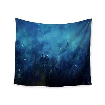 Kess Internes 51 X 152 Cm 888 Design Foret Bleu Nuit Bleu Noir