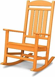 POLYWOOD R100TA Presidential Rocking Chair, Tangerine