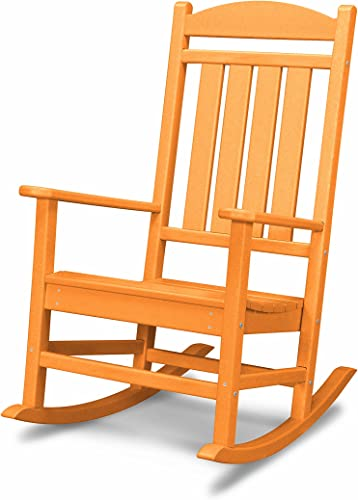 POLYWOOD R100TA Presidential Rocking Chair, Tangerine