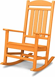 product image for POLYWOOD R100TA Presidential Rocking Chair, Tangerine