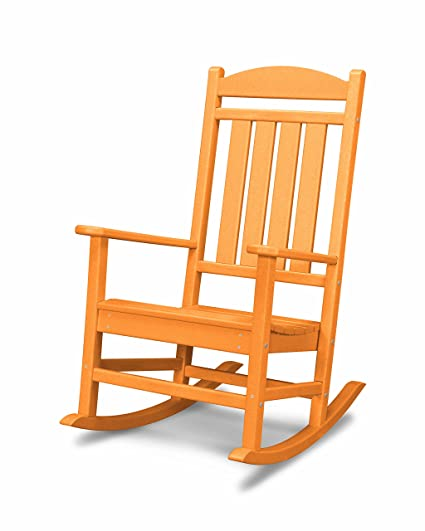 Peachy Polywood R100Ta Presidential Rocking Chair Tangerine Pdpeps Interior Chair Design Pdpepsorg