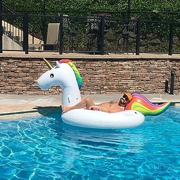 Inflable Gigante de Unicornio Flotador de Helado para piscina Juguetes Flotadores para Piscina Anillo de nadar: Amazon.es: Juguetes y juegos