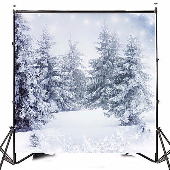 KING DO WAY Fondo Fotográfico, Navideño Fondo Profesionale para Estudio de Fotografía e Iluminación (Nieve y Arbol de Navidad): Amazon.es: Electrónica