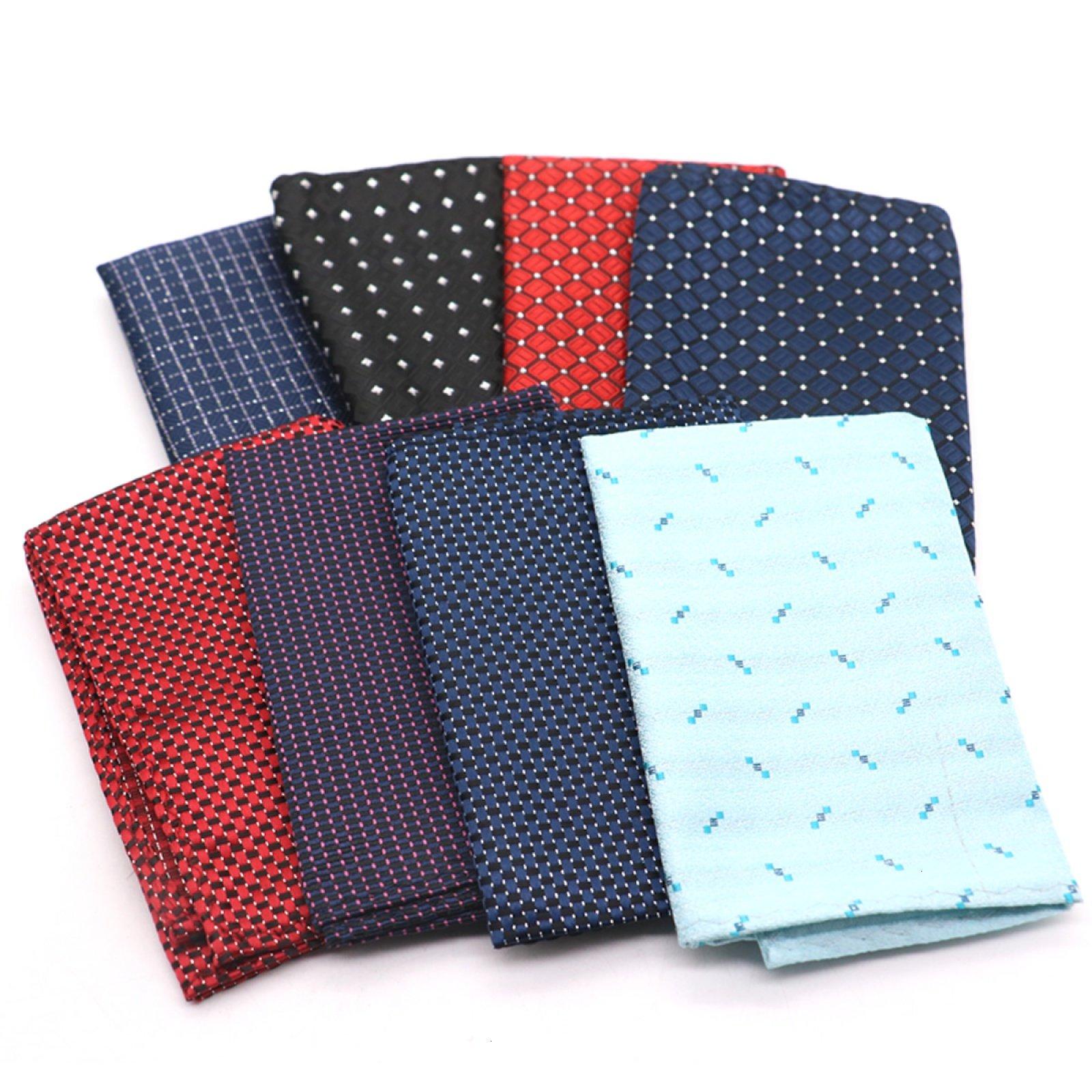 MAISHO 8 Pack Assorted Flash Dots Pocket Square Handkerchief Hanky For Men