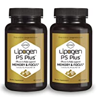 Lipogen PS Plus - Memory, Focus, Clarity Brain Booster Supplement, Scientifically Formulated to Enhance Cognitive Function, Clinically Proven Formula. (2 Pack)