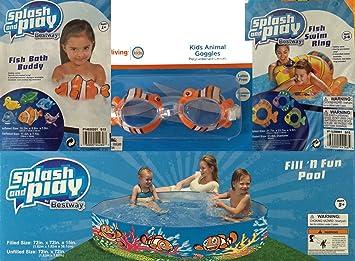 Splash N Swim Clown Fish Splash Rings Bundle of 2