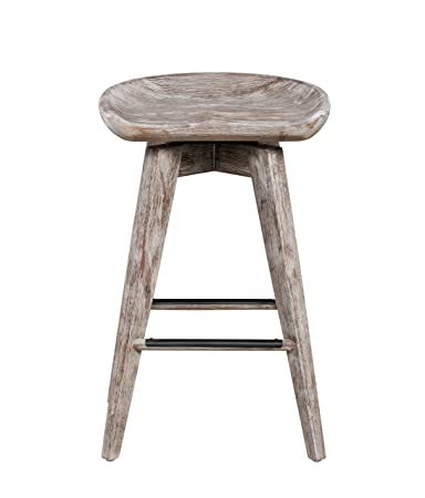 Boraam 54224 Bali Swivel Counter Stool 24-Inch, 1-Pack Vintage