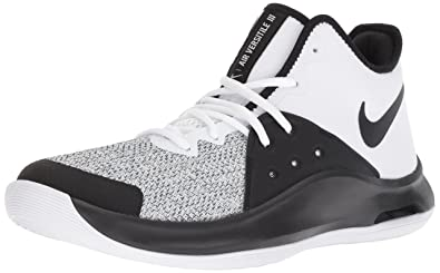 Nike Mens Air Versitile III Basketball Shoe White/Black - Dark Grey 6 Regular US