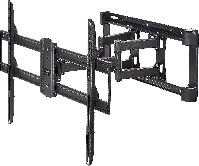 AmazonBasics Dual Arm Full Motion TV Mount, 37-Inch to 80-Inch