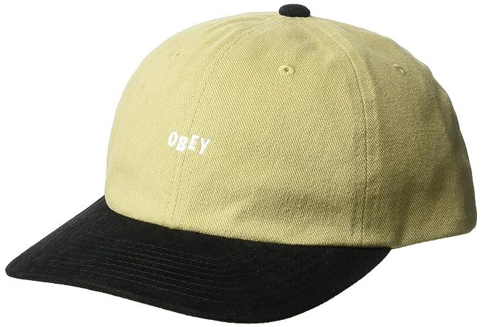 58e526c5893 Amazon.com  Obey Men s 90 S Jumble 6 Panel Strapback HAT