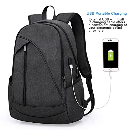 b769241c3e63 Image Unavailable. Image not available for. Color  ibagbar Water Resistant Laptop  Backpack with USB Charging ...