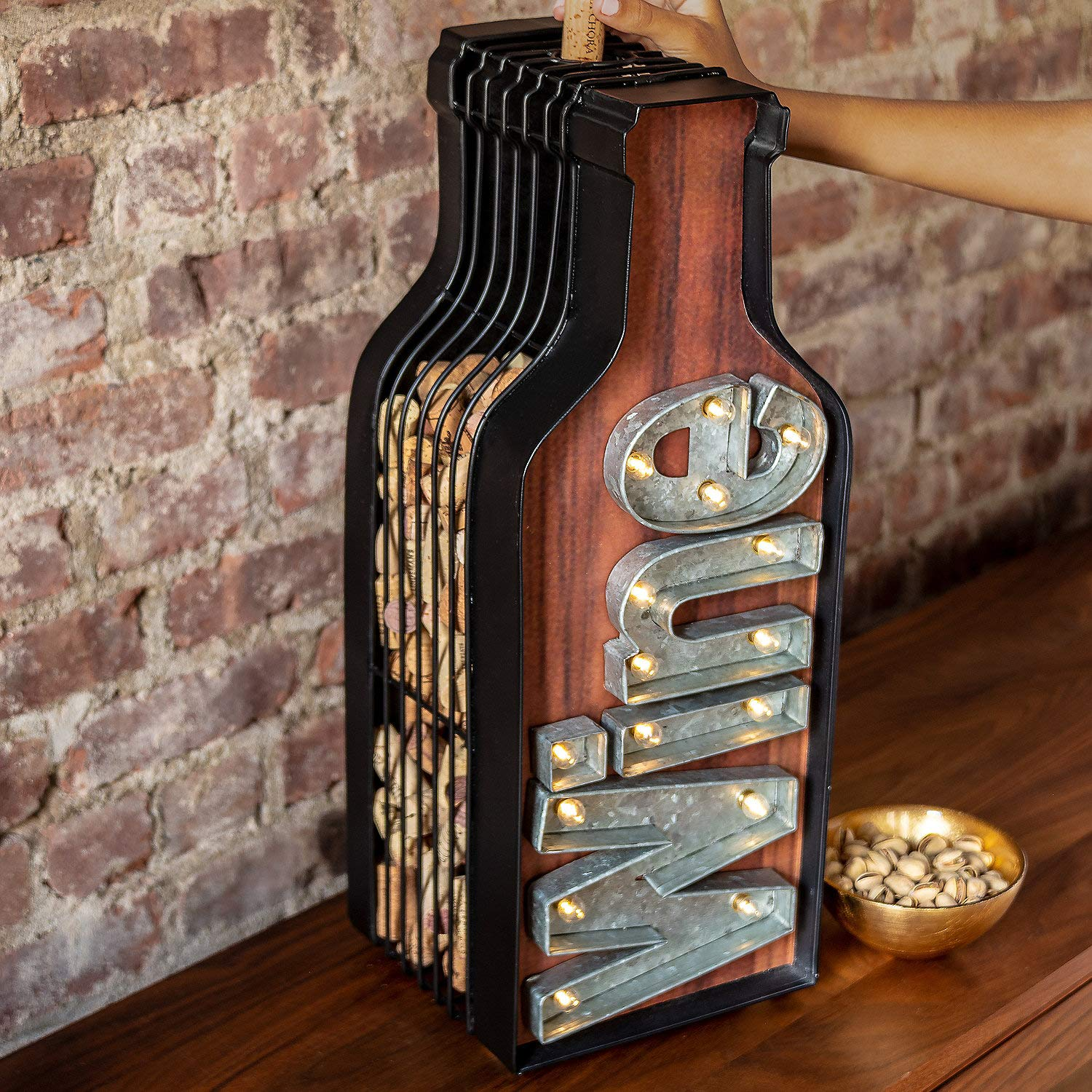 Lighted Wine Bottle Cork Catcher by Wine Enthusiast (Image #3)