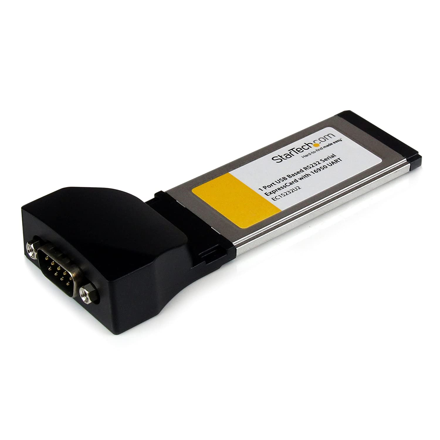 StarTech.com EC1S232U2 1-Port ExpressCard to RS232 DB9 Serial Adapter Card with 16950, USB Based Parallel & I/O Equipment