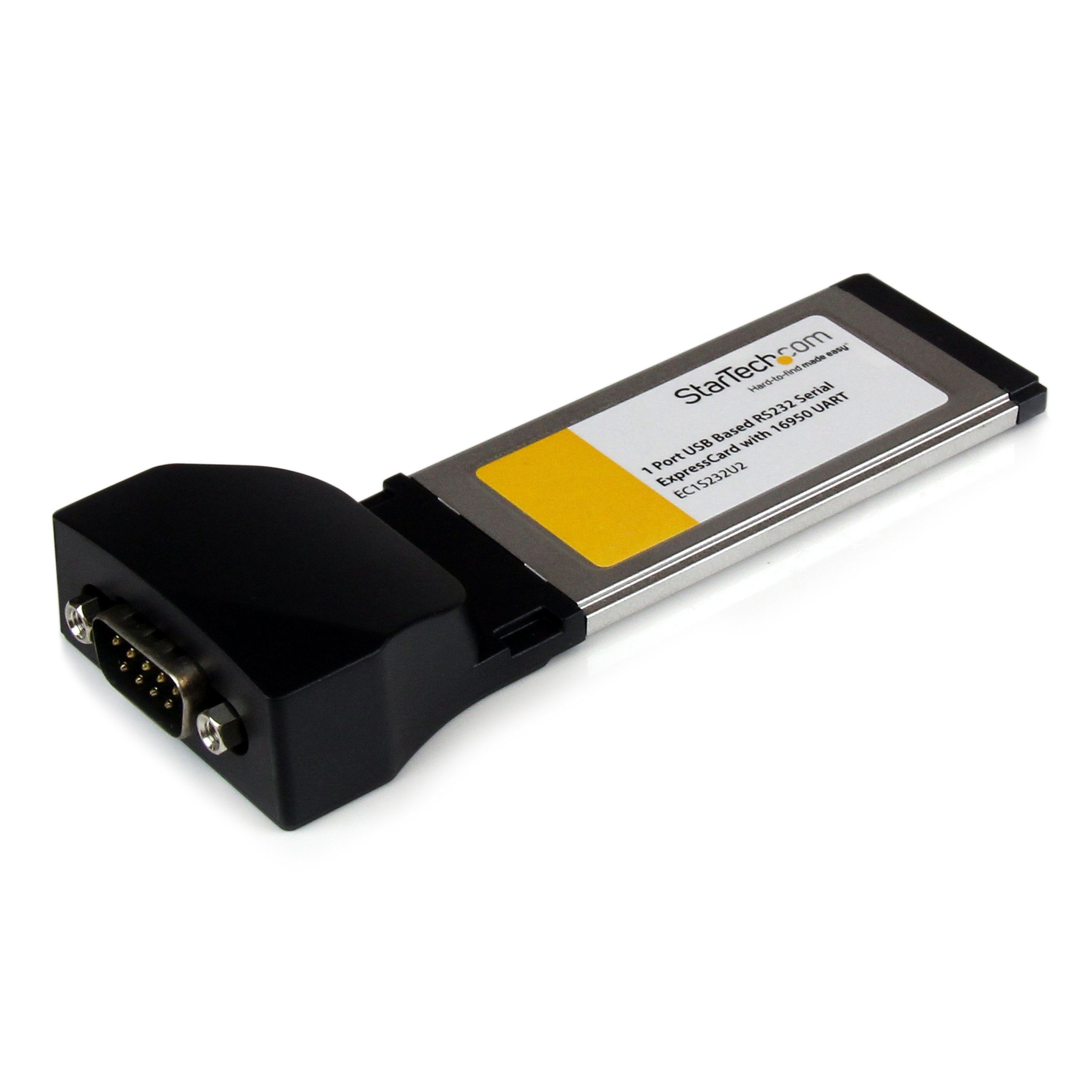 StarTech 1 Port ExpressCard to RS232 DB9 Serial Adapter Card w/ 16950 - USB Based
