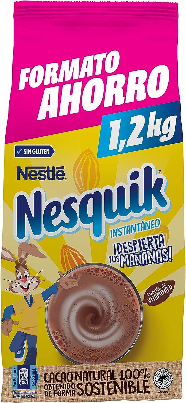 Nestlé Nesquik Cacao Soluble Instantáneo 1 2kg Amazon Es Alimentación Y Bebidas