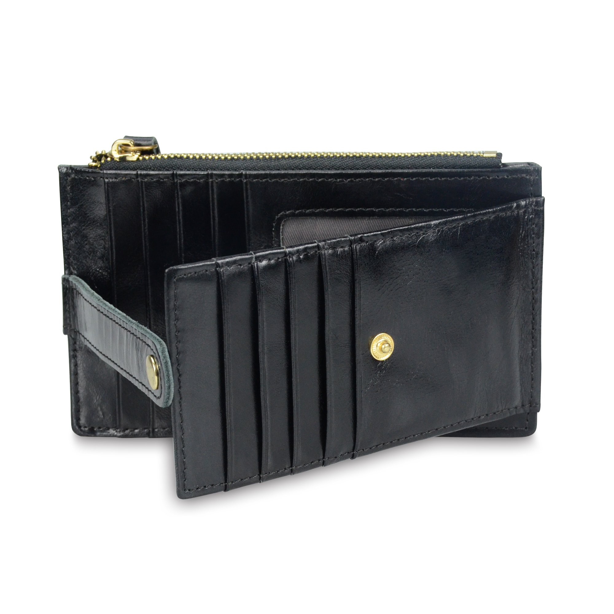 Onstro RFID Blocking Wallets for Women Genuine Leather Multi Credit Card Organizer with ID window